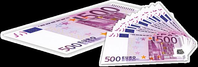500 euro v bankovkách